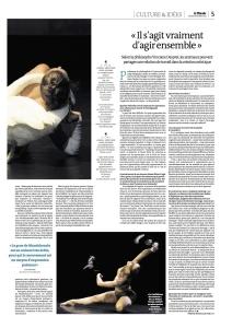 19.10.2013 Le Monde - Bêtes de Scène