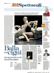 La Repubblica - Avril 2015
